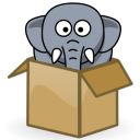 hathix.com's mascot, the elephant in a box